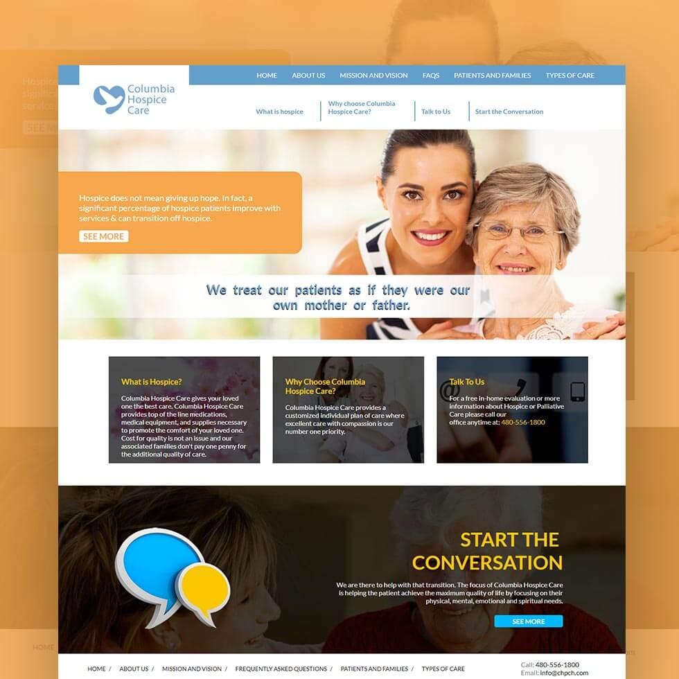 Columbia Hospice Care Website