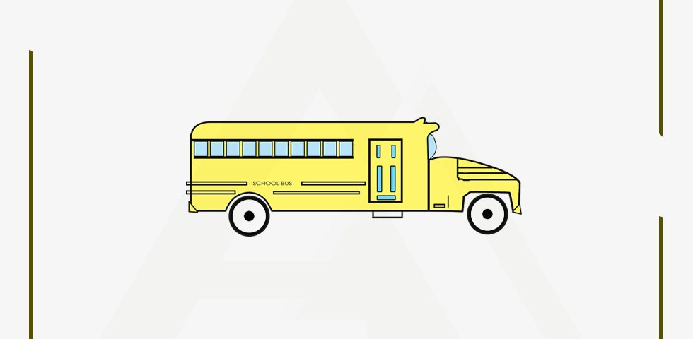 Old School Bus - Illustration