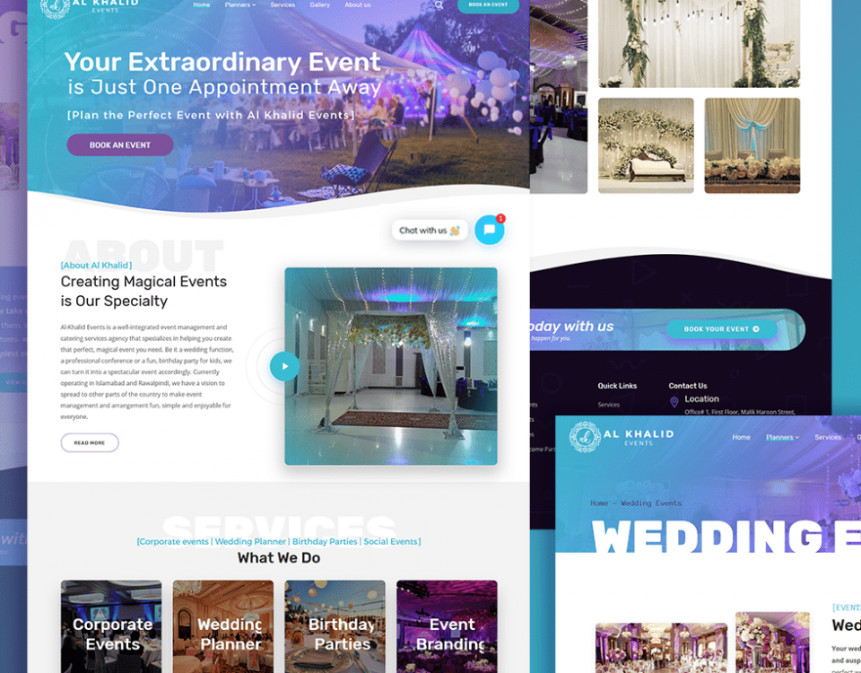 Al Khalid Events- Website Design and Development by Abdul Mateen
