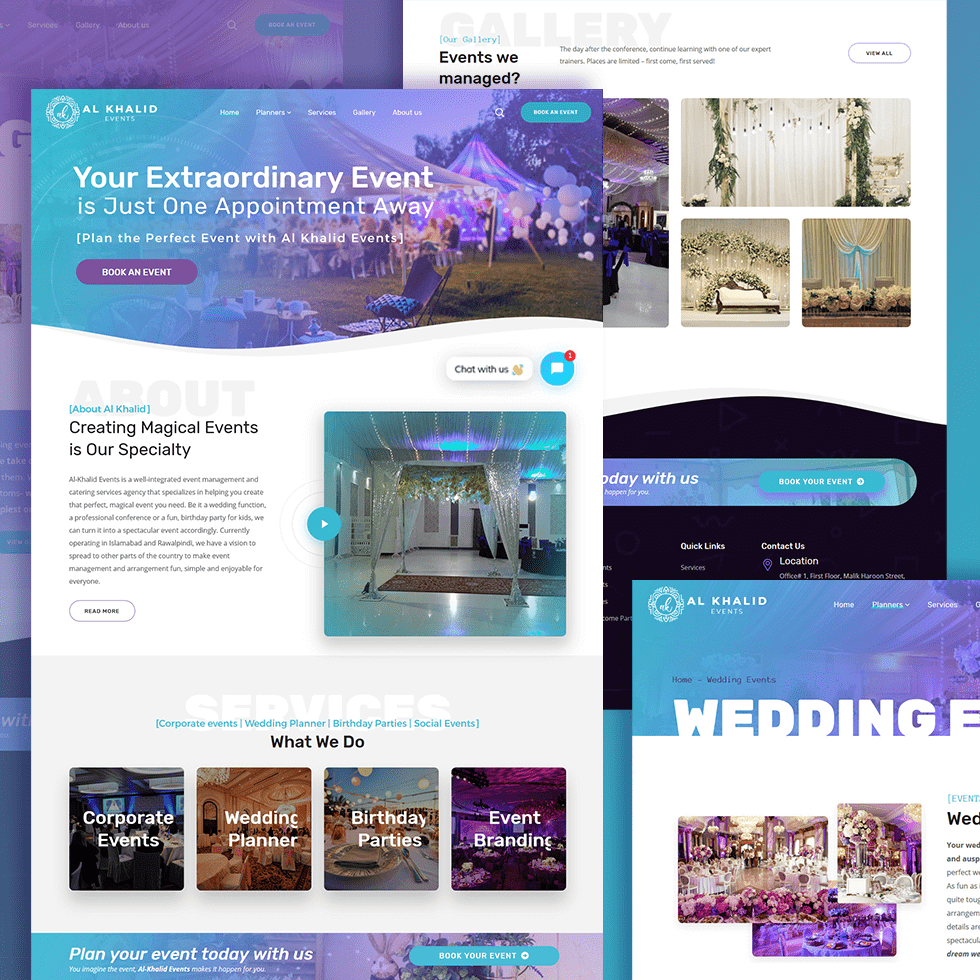 Al Khalid Events- Website Design and Development by Abdul Mateen