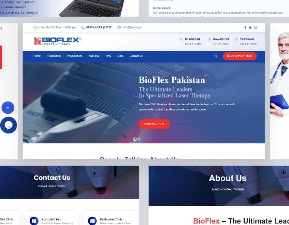 Bioflex - Web Design by Abdul Mateen - Graphic Designer & Front-End-Developer - Islamabad, Pakistan