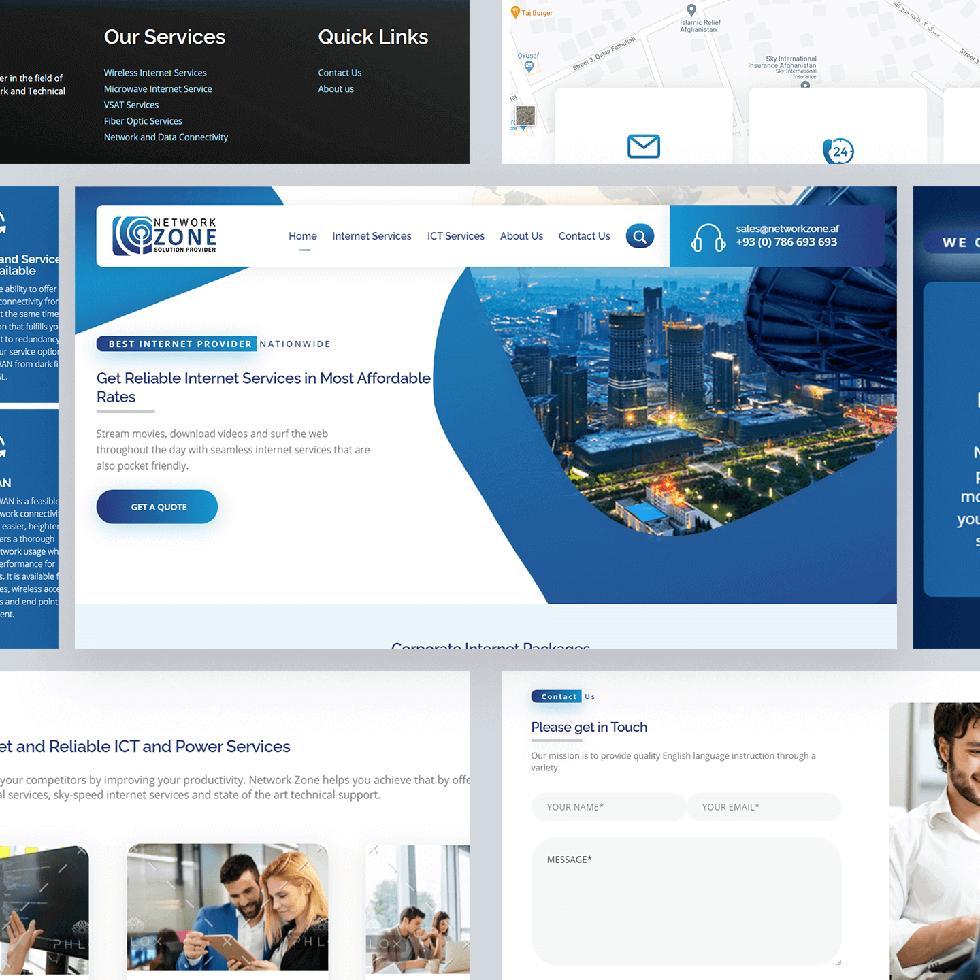 Network Zone - Web Design by Abdul Mateen - Graphic Designer & Front-End-Developer - Islamabad, Pakistan