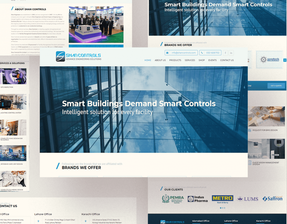 Shan Controls - Web Design by Abdul Mateen - Graphic Designer & Front-End-Developer - Islamabad, Pakistan