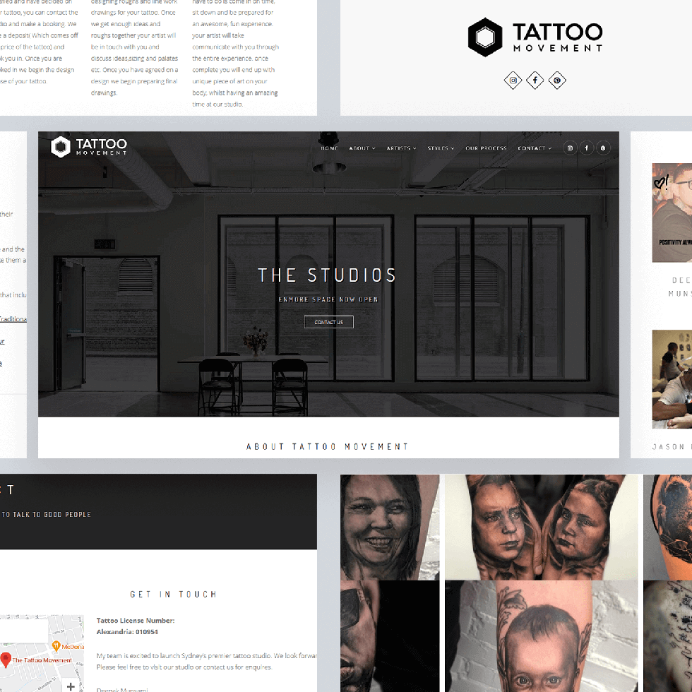 The Tattoo Movement - Web Design by Abdul Mateen - Graphic Designer & Front-End-Developer - Islamabad, Pakistan