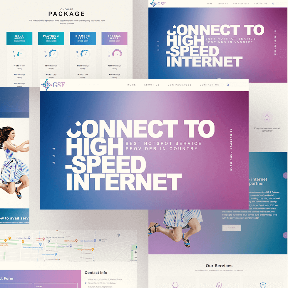 GSF - Web Design by Abdul Mateen - Graphic Designer & Front-End-Developer - Islamabad, Pakistan